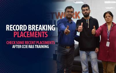 Check some Recent Placements of Network Bulls after CCIE R&S Training