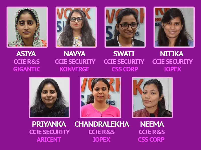 Women placement after CCIE course trianing - Network Bulls
