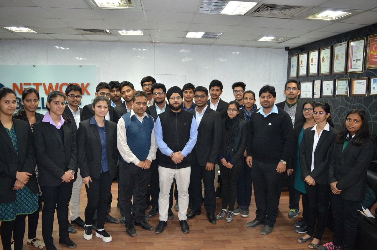 Lingaya's University Industrial Visit to Network Bulls, Best Cisco CCIE Training Institute in India