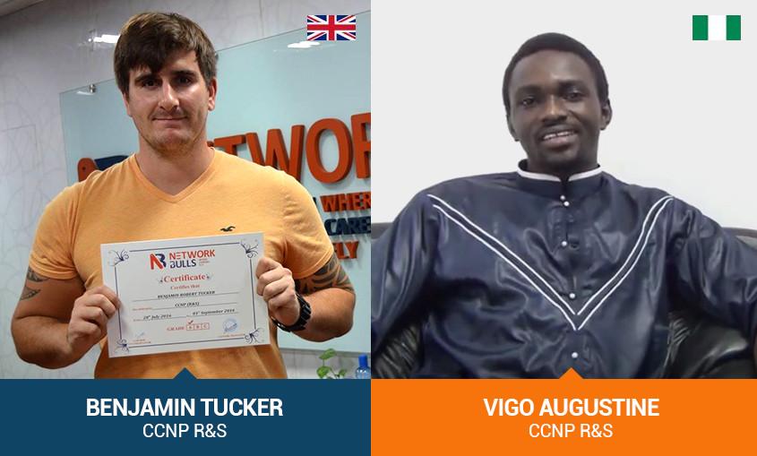 Planning to go for Cisco CCIE, CCNP & CCNA Training, Come to India like Benjamin (United Kingdom) & Vigo (Nigeria)