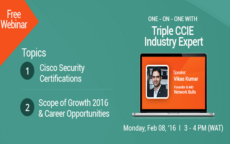 [Free Webinar] - 1 Hr. Session with World's Top Rated Cisco CCIE Trainer