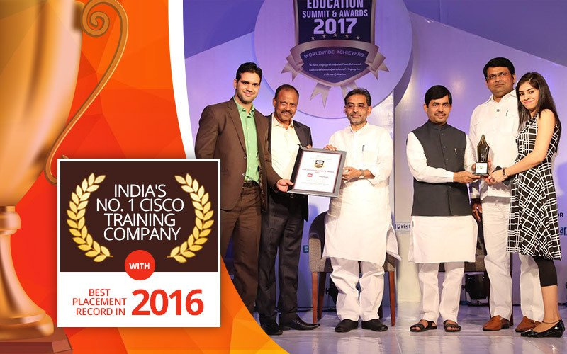 "Network Bulls Bags another Education Excellence Award - ""India's No.1 Cisco Training Company with Best Placement Record in 2016"""