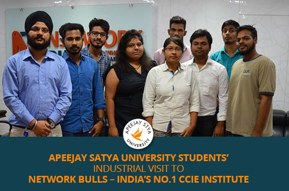 Apeejay Satya University Students' Industrial Visit to Network Bulls - India's No.1 CCIE Institute